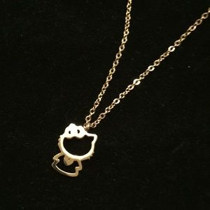 Jewelry - 18k rose gold filled hello kitty necklace